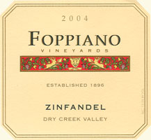 Foppiano Vineyards, Zinfandel 2004