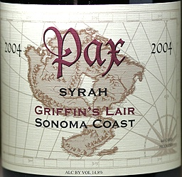 Pax Cellars, Syrah, Griffin's Lair 2004