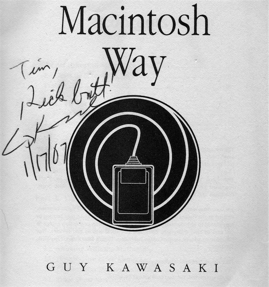 My Macintosh Way autograph