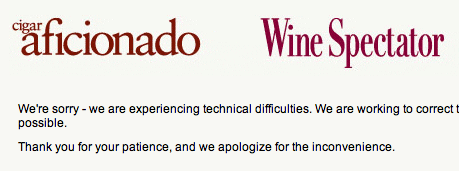 Wine Spectator Off-Line (at the moment)