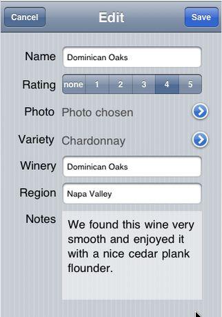 Wine Log