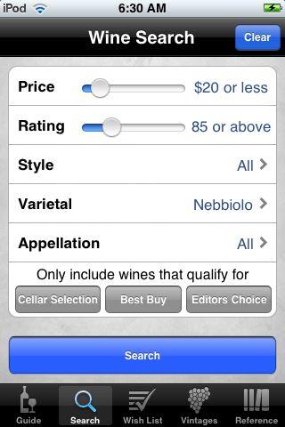 Wine Search