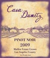 Casa Dumetz Pinot Noir label