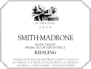 Smith-Madrone Riesling 2009 label