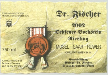 Typical old school German wine label