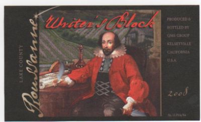 Writer's Block Roussanne label