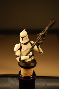 Star Wars Ep.2 Clone Trooper (White) Wine Stopper