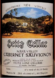 Heitz Cellar Marthas Vineyard Cabernet 1974