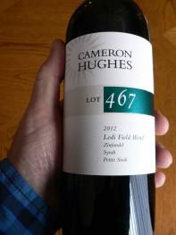 Cameron Hughes, Lot 467, Lodi Field Blend 2012